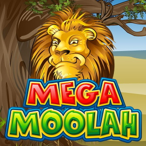 Mega Moolah Progressive Jackpot Online Slot Logo